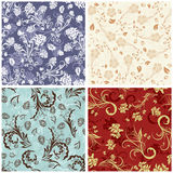 Seamless floral backgrounds set Royalty Free Stock Image