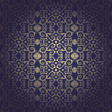 Seamless floral baroque blue background Royalty Free Stock Photography