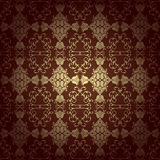 Seamless floral baroque brown background Stock Photography