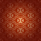 Seamless floral baroque red background Royalty Free Stock Images