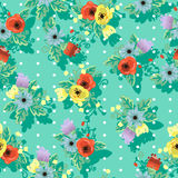 Seamless floral beautiful texture in folk style Royalty Free Stock Image