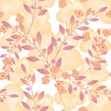Seamless floral berry pattern pastel background Royalty Free Stock Photos