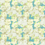 Seamless floral berry pattern pastel background Royalty Free Stock Image