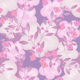 Seamless floral berry pattern pastel background Royalty Free Stock Photography