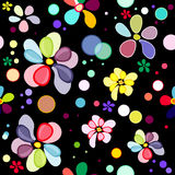 Seamless floral black pattern Royalty Free Stock Images