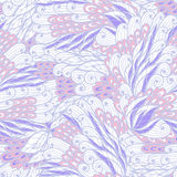 Seamless floral blue and beige pattern Stock Photo