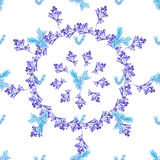 Seamless floral Blue circle pattern Royalty Free Stock Photography