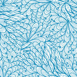 Seamless floral  blue doodle pattern Royalty Free Stock Image