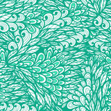 Seamless floral blue doodle pattern Royalty Free Stock Photos