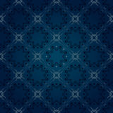Seamless floral blue pattern Royalty Free Stock Image
