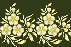 Seamless floral border vector illustration