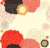 Contoured seamless  floral border with roses Royalty Free Stock Photography
