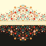 Set of floral border decorations Stock Photography