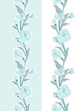 Seamless floral border. Contains no transparency and gradients Stock Photography
