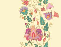 Seamless floral border  decor Royalty Free Stock Photos