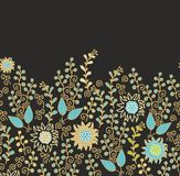 Seamless floral border decoration Royalty Free Stock Photos