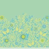 Seamless floral border decoration Stock Photography