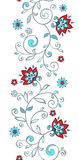 Seamless floral border Stock Photography