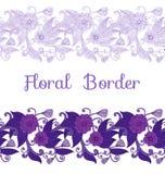 Seamless Floral Border Royalty Free Stock Photos