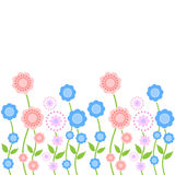 Seamless floral border pattern. On white background Royalty Free Stock Photography
