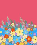 Seamless floral border pattern Stock Images