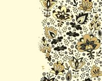 Seamless floral border pattern Stock Photos