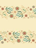 Seamless floral border patterns Royalty Free Stock Image