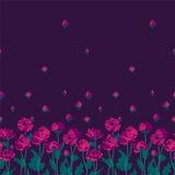 Seamless floral border Stock Photos