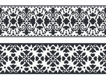 Seamless floral border template stock illustration