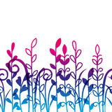Seamless floral border. For Your design Royalty Free Stock Photo