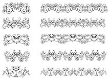Seamless Floral Borders Stock Photos
