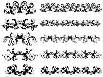 Seamless Floral Borders Royalty Free Stock Image