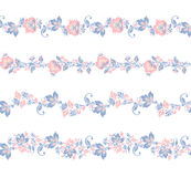 Seamless floral borders elements.. Flower set Royalty Free Stock Image