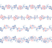 Seamless floral borders elements.. vector Flower set Stock Photos