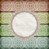 seamless floral borders  napkin Stock Photography