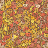 Seamless floral bright doodle pattern Royalty Free Stock Images