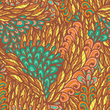Seamless floral bright summer doodle pattern Royalty Free Stock Photos