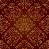 Seamless floral brown pattern Stock Photo