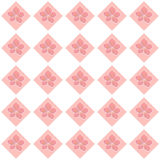A seamless floral checkerboard pattern. A seamless pattern, with pink stylized pink flowers on pink squares Royalty Free Stock Photos