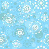 Seamless floral christmas pattern Stock Image