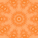 Seamless floral circle ornament orange Royalty Free Stock Photo