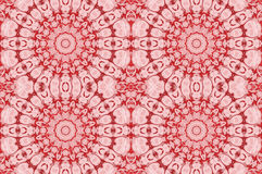 Seamless floral circle ornaments pink red. Abstract geometric seamless background. Regular floral circle ornaments in pink and red shades, ornate and dreamy Stock Photography