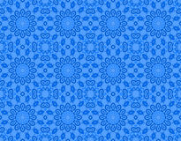 Seamless floral circle pattern blue Royalty Free Stock Photos