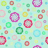 Seamless floral color pattern Stock Images
