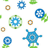 Seamless floral colorful kaleidoscopic pattern for design textile and background. Stock Images