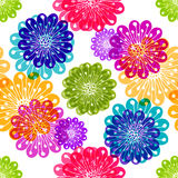 Seamless floral colorful pattern Royalty Free Stock Photo