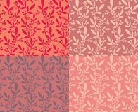 Set of seamless  patterns with berries Stock Photos