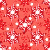 Seamless floral coral background royalty free illustration