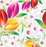 Seamless floral curtain background Stock Photography
