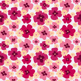 Seamless floral cute pattern with poppies and daisies. Seamless floral cute pattern with a poppies and daisies Royalty Free Stock Image